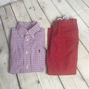 Boys 4/4T Holiday Outfit- RL Polo/ Gap